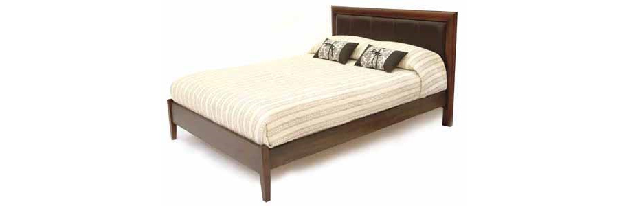 Coco Bed with Upholstered Padded Panel Headboard