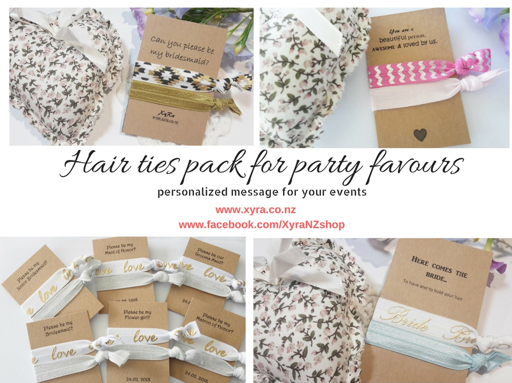 Bridal Hair Ties Pack Party Favours