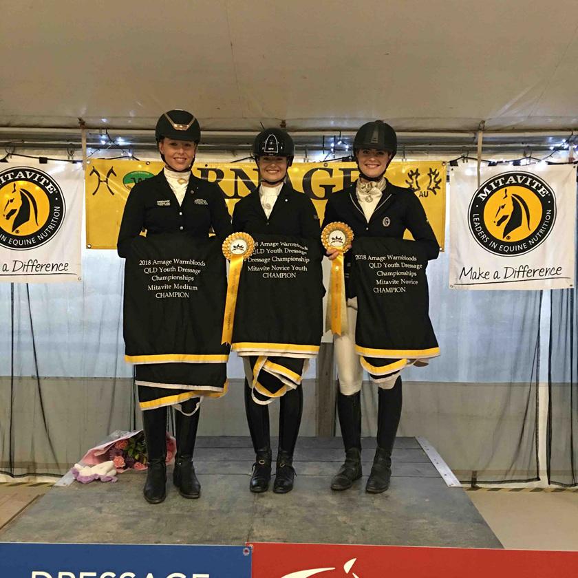 Hope Beerling - QLD Youth Dressage Medium Champion