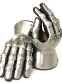 """Plate 6 - 14th Century """"Hourglass"""" Gauntlets"""
