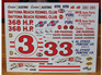 Powerslide Daytona Kennel Club 1961 Pontiac Decals