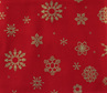 QF061  Christmas Snowflakes - Red