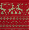 QF063  Christmas Border - Red