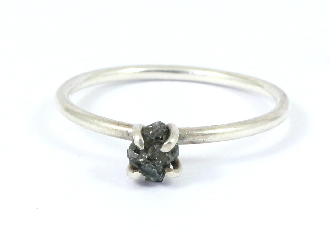 Black Diamond Gemstone Ring