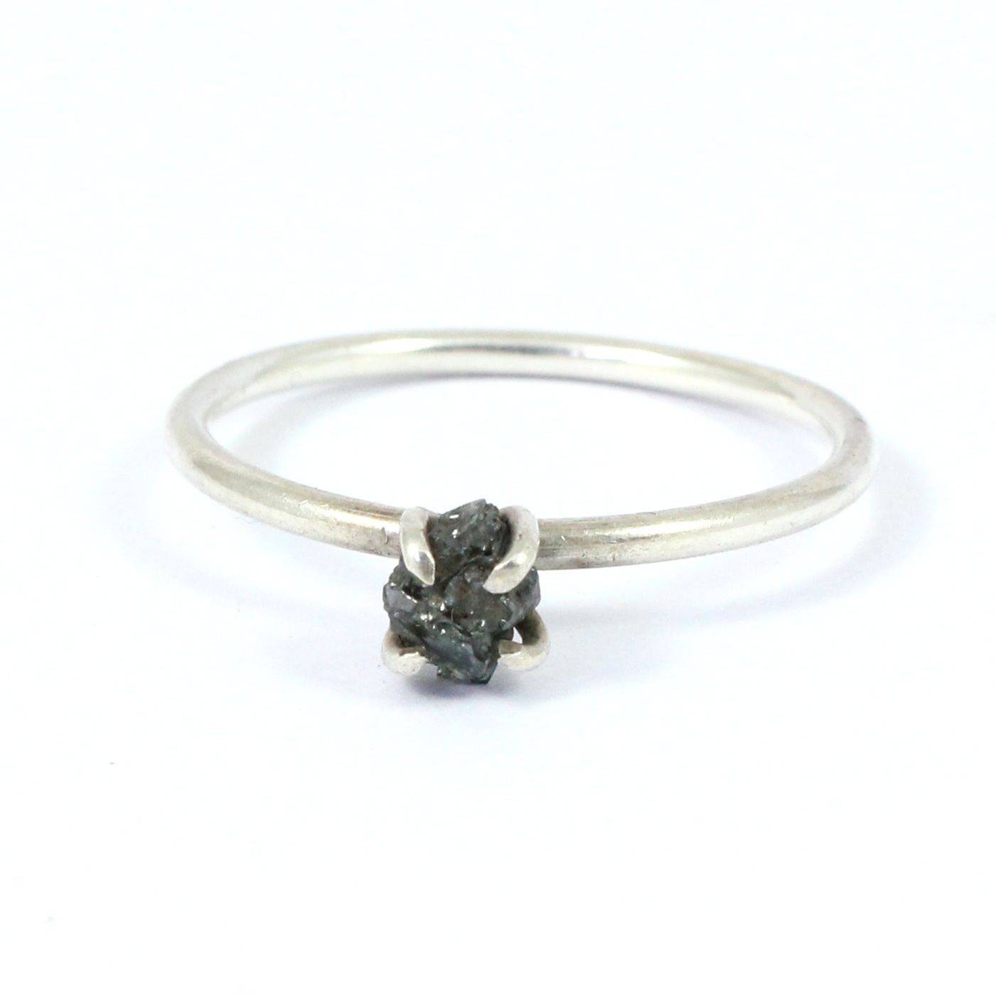 Black Diamond Gemstone Ring