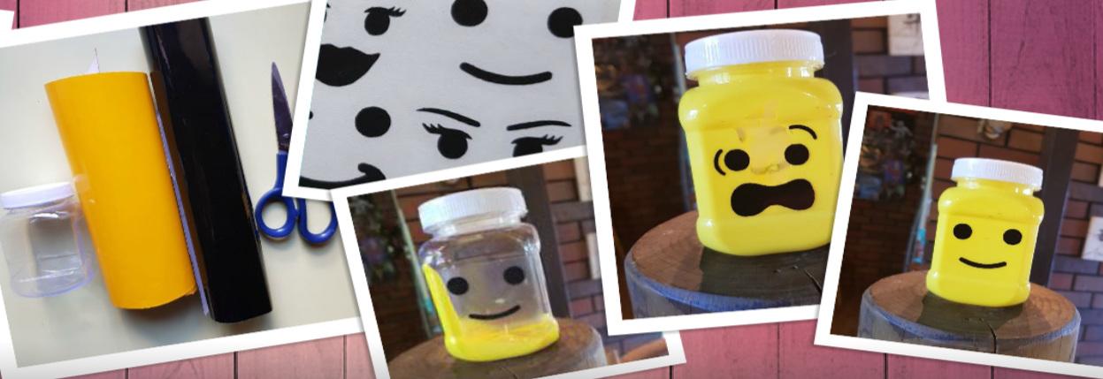 LEGO JAR CRAFT: #createyourownlegoobsessedjar