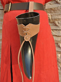 Medium and Large Leather Belt Holder for Drinking Horns