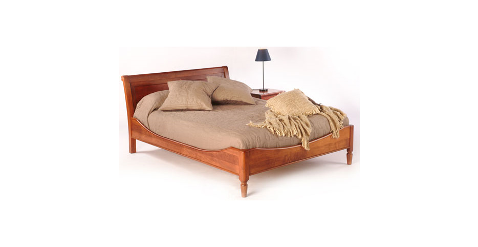 Mulhouse Leaf Sleigh Bed