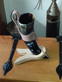 Drinking Horn Type 2C - Medium Drinking Horn with Iron Stand and Belt Holder