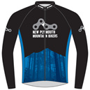 New Plymouth MTB Blue Warmup Jacket