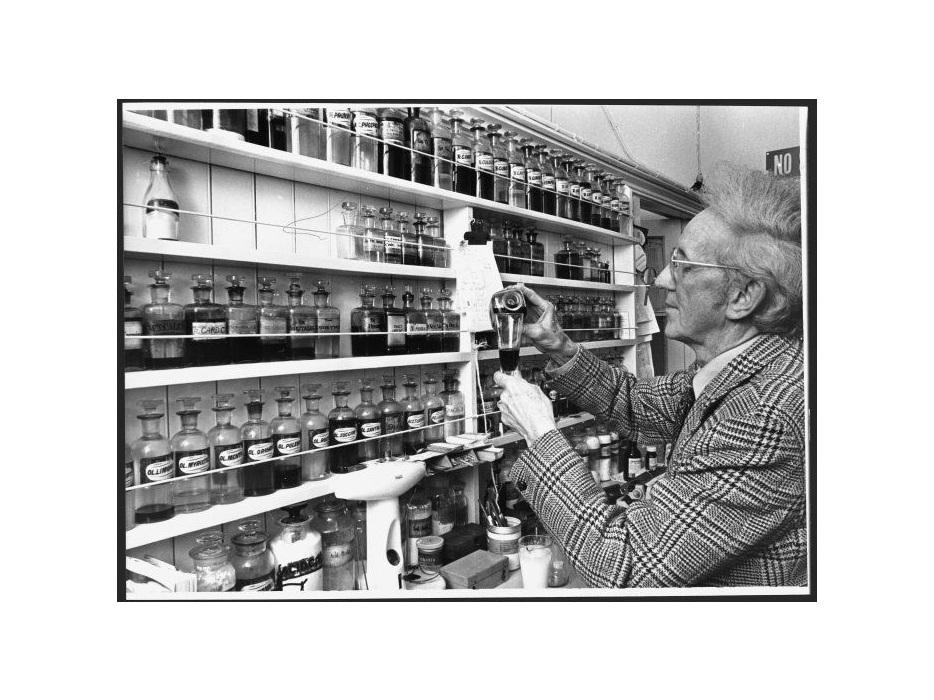 Ronald Castle preparing medicine