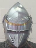"Helmet 15 - 14th Century ""Pig Faced"" Bascinet Type 3"