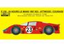 Reji Decal - 1/24 Ferrari 330P - 24h Le Mans 1967 Attwood / Courage