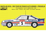 Reji Decal - 1/24 Opel Manta 400 Gr.B - 1983 Tour de France Auto Winner - Frequelin / Fauchille