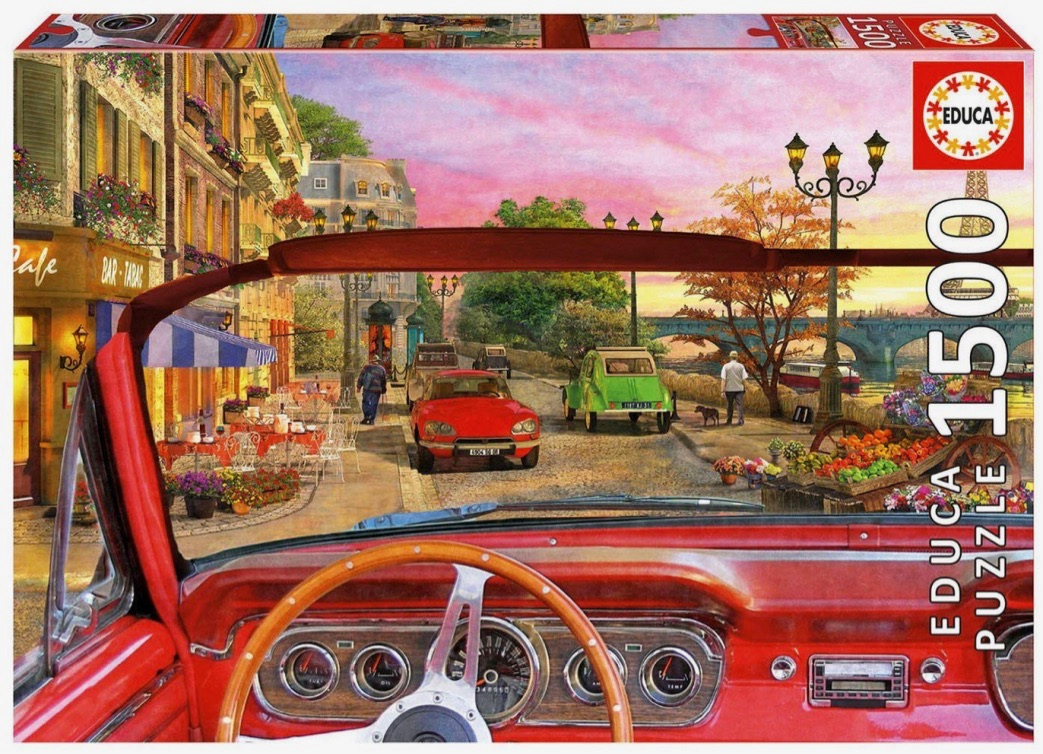 Educa 1500 Piece Jigsaw Puzzle: Paris In A Car