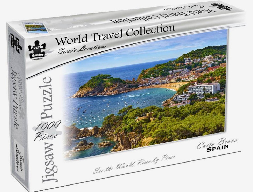 Puzzle Master World Travel Collection 1000 Piece Jigsaw Puzzle: Costa Brava Spain