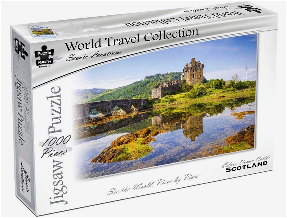 Puzzle Master World Travel Collection 1000 Piece Jigsaw Puzzle: Eilean Donan Castle Scotland