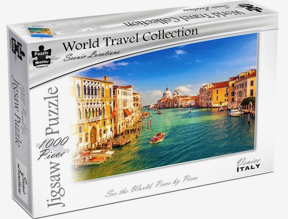Puzzle Master World Travel Collection 1000 Piece Jigsaw Puzzle: Venice Italy