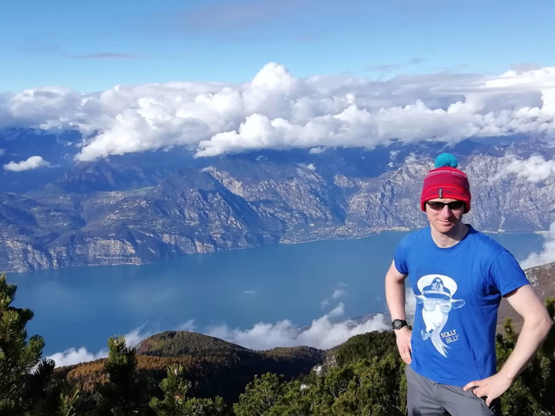 Billy in Lake Garda, Italy