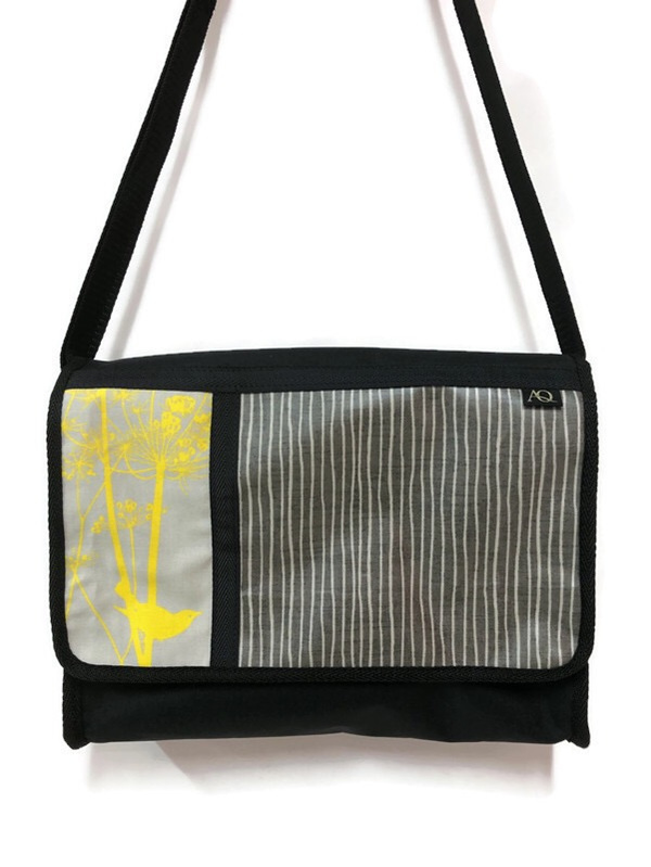 A bag with a splash of yellow, made in New Zealand