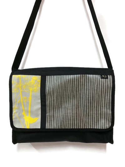 Manta satchel - yellow silhouette