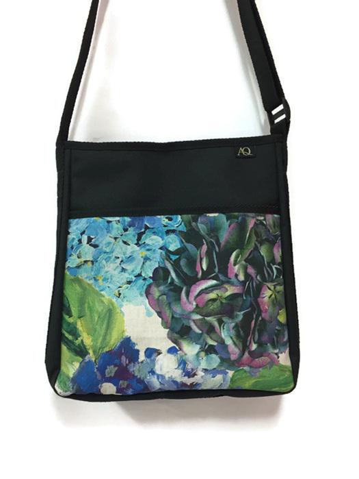 A Brill handbag in designer fabric handmade in NZ