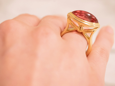 A Celebration of Light - Creating Our Rubellite Solitaire Ring