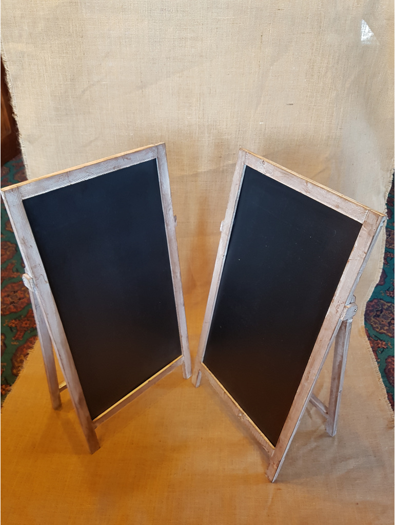 A frame blackboard wedding and event hire
