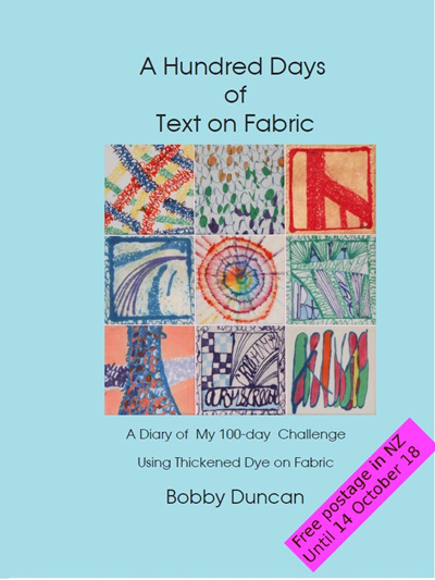 A Hundred Days of Text on Fabric