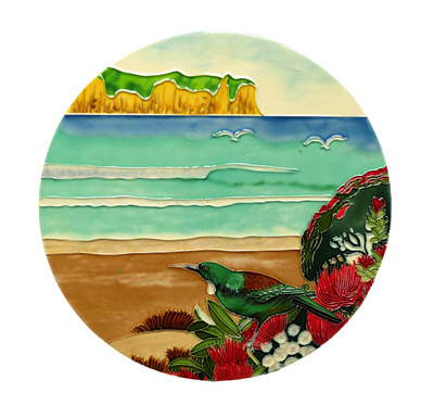 Tui at the beach large ceramic wall art tile