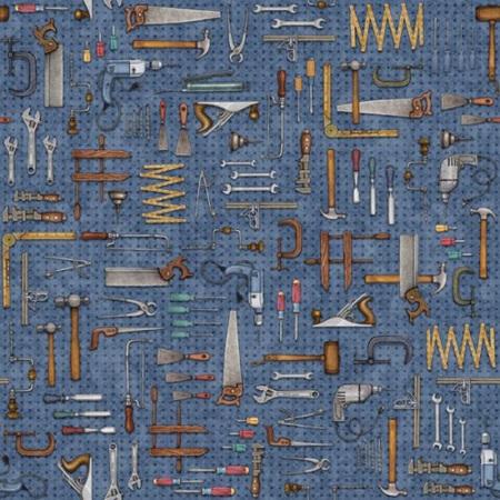 A Little Handy Novelteenies Tool Pegboard Blue 28196-B
