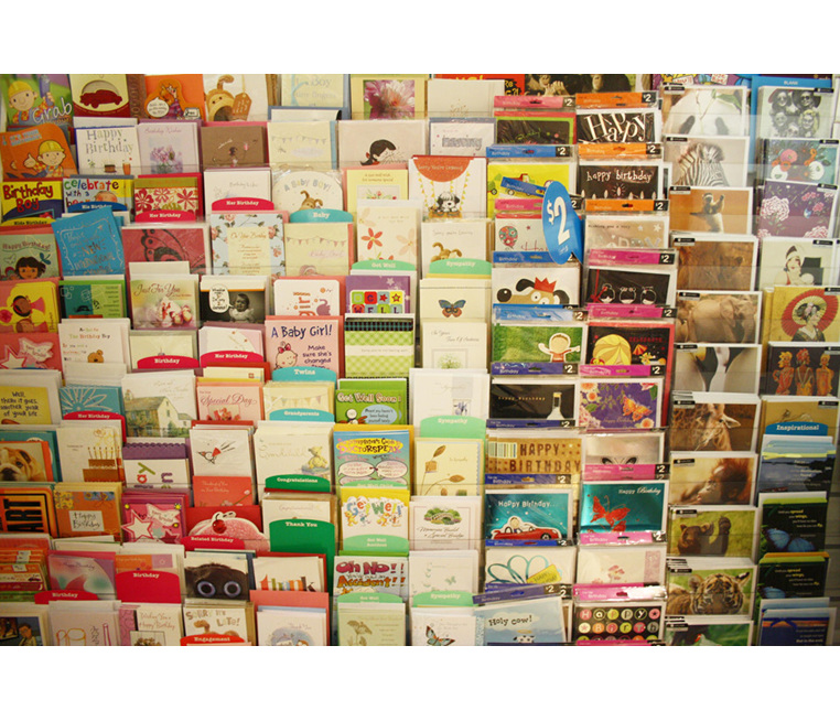 A selection of cards for $6 each
