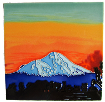 A sunset view of Mt Taranaki by Paul Hutchinson.