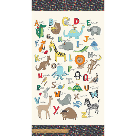 A to Zoo Animal Alphabet Panel Panel 52211P-1