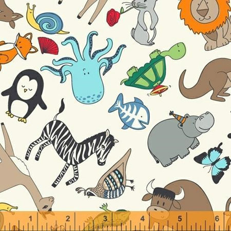 A to Zoo Animals on Ivory 52212