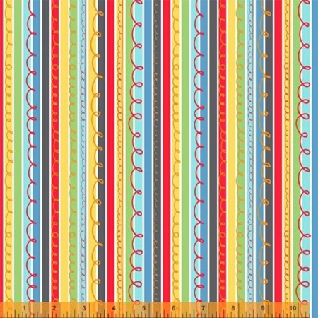 A to Zoo Scribble Stripe in Multi 52216