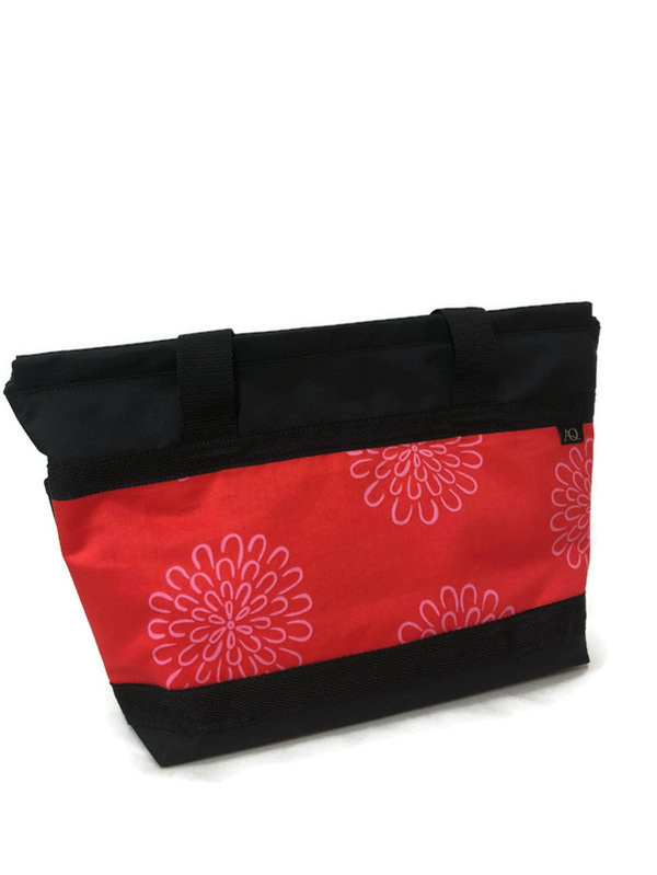 A zippered tote bag made in NZ.