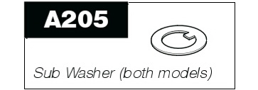 A205 Sub washer for P100 & P50 Pro-Pruner