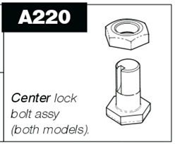 A220 Centre lock bolt and nut for P100 & P50 Pro-Pruner