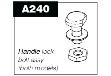 A240 Handle lock bolt assembly for P100 & P50 Pro-Pruner