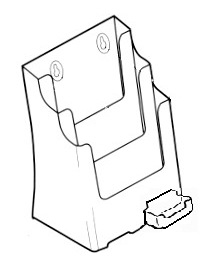 A4 3 Pocket with B/C Holder 77311