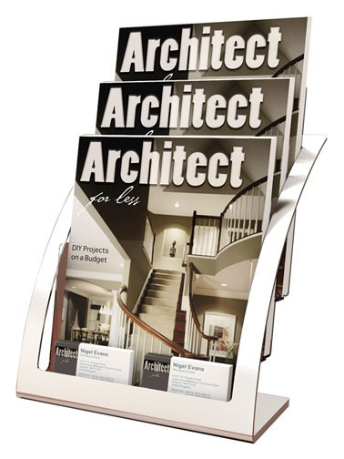 A4 Brochure Holder 3 Tier Silver Frame 693745 brochure holders nz