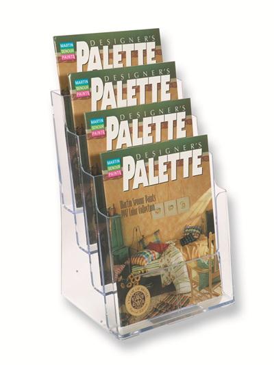 A4 Brochure Holders - Multi Pocket 77441 brochure stand