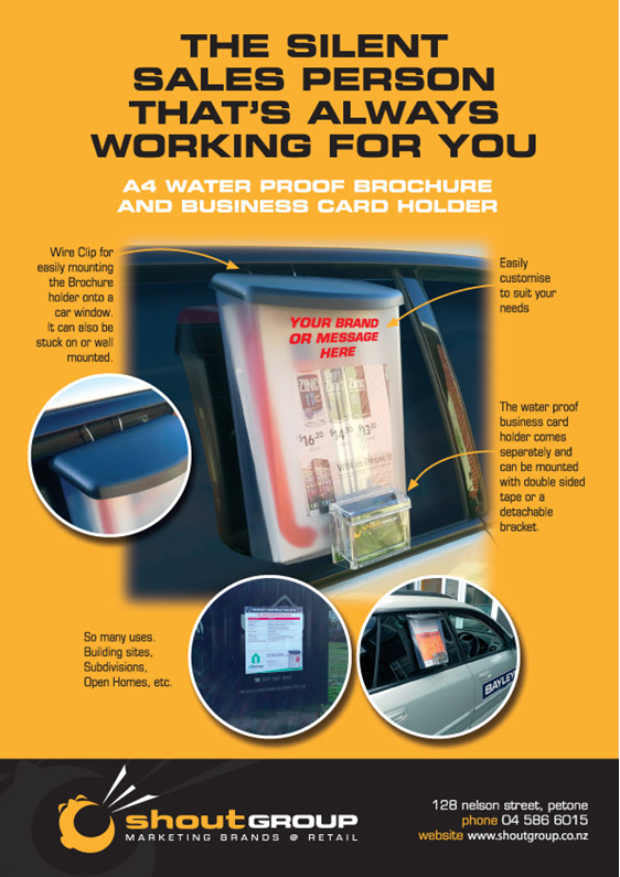 Outdoor Brochure Holder Weatherproof Waterproof A4 Wellington Nz Car