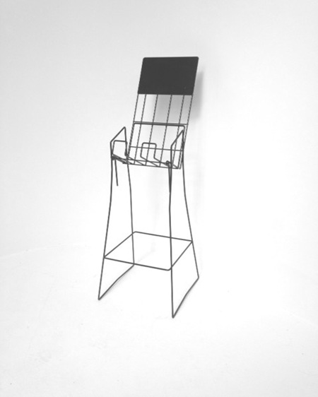 A4 Wire Real Estate Stand Upright Portrait