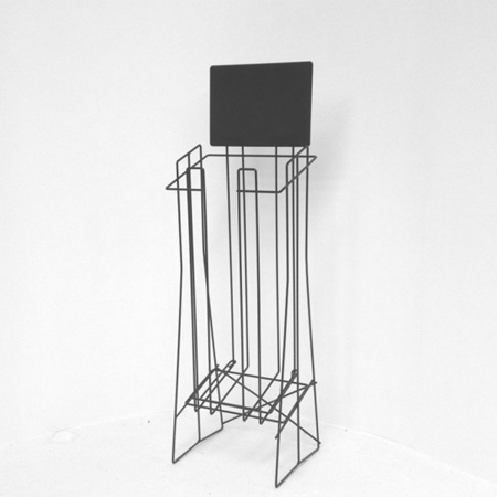 A4 Wire Stand Extra Deep Landscape, top support wire