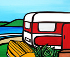 AB05 Art block small Caravan with dinghy