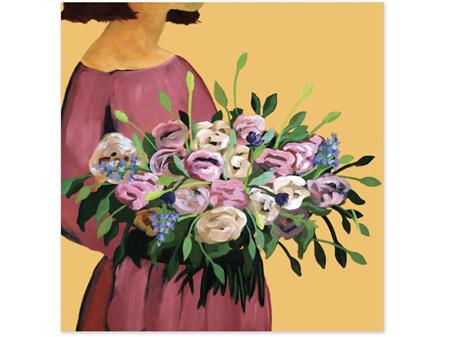 Abbey Merson Card Posy V Autumn