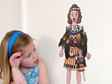 Abby's Maori Costume dress up doll wall decal
