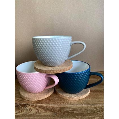 Abode Textured  Mug and Coaster Set